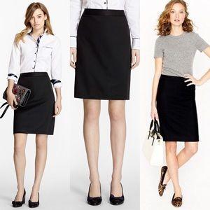 J. Crew🌿Wool No. 2 Career Pencil Skirt Suit Black